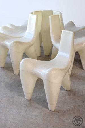 Chaise vintage douglas mont galactica