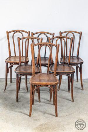 Lot de six chaises Thonet