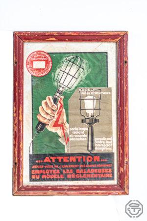 Ancienne affiche travaux électriques