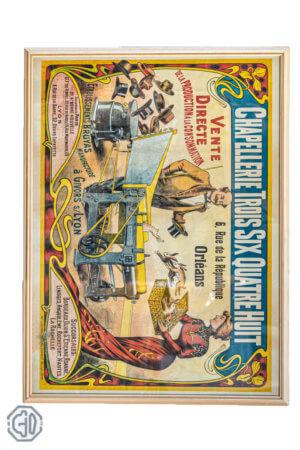 Publicité française de la ville d'Orléans datant de 1900, issu d'une chapellerie