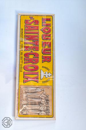 Affiche ancienne liqueur sainte croix
