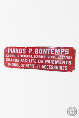 Enseigne piano plaque émaillée