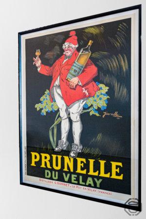 Ancienne affiche publicitaire Prunelle